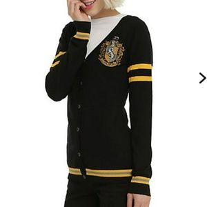 Harry Potter Hufflepuff emblem sweater Black Small